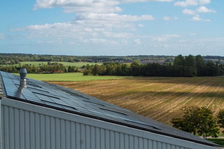 Lehnsgaard | Solceller Udsigt | Ønsker at blive 100% CO2-neutral.